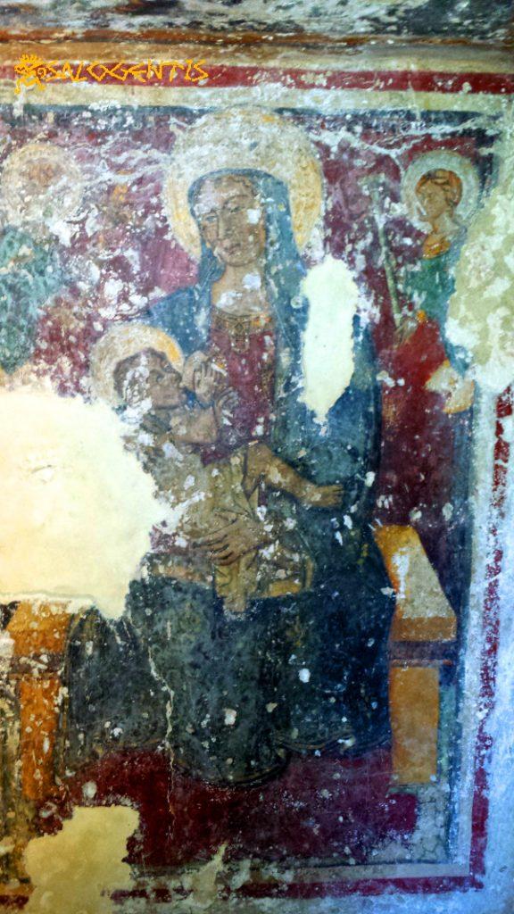 Cripta della Favana, Vergine allattante
