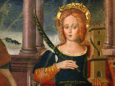 Icona di Santa Barbara a San Benedetto da Norcia