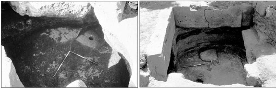 Cavità 3 e 2 del tempio di Demetra
