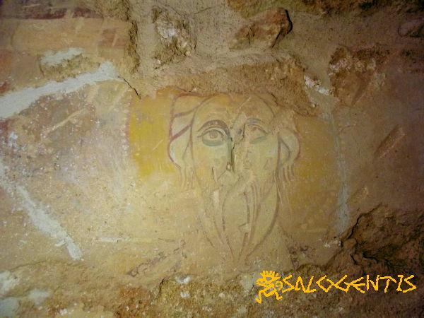 Affreschi nella cappella di San Lasi, particolare