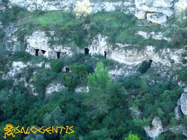Case-grptte in parete nella Gravina di Riggio