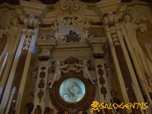 Chiesa Madonna di Costantinopoli, Marittima - Pietra con l'immagine Mariana