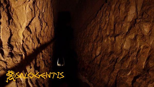 Tratto del cunicolo sotterraneo principale