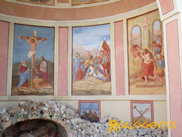 Calvario di Vignacastrisi, dettaglio di alcuni affreschi