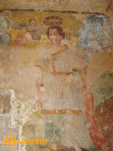 Affresco della Santa nella cripta