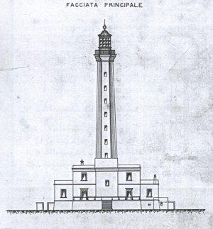 Fig. 7: Disegno della facciata del faro di Gallipoli, 1894.
