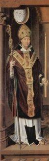 Hans Memling, San Biagio, 1491, olio su tela, Lubecca, Sankt-Annen-Museum. (Fonte: Wikipedia)