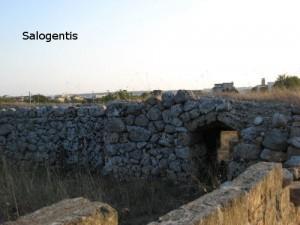 Parte di una costruzione in pietra