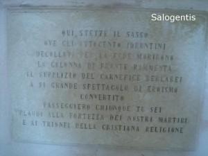 Lapide commemorativa sulla valle della memoria