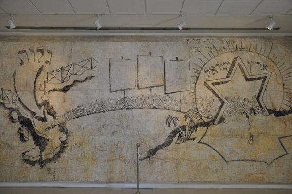 Murales ebraico nel museo dell'accoglienza. Fonte: 20centesimi.it