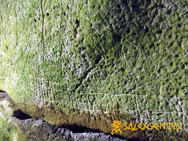 Graffito di una nave nella grotta delle Croci