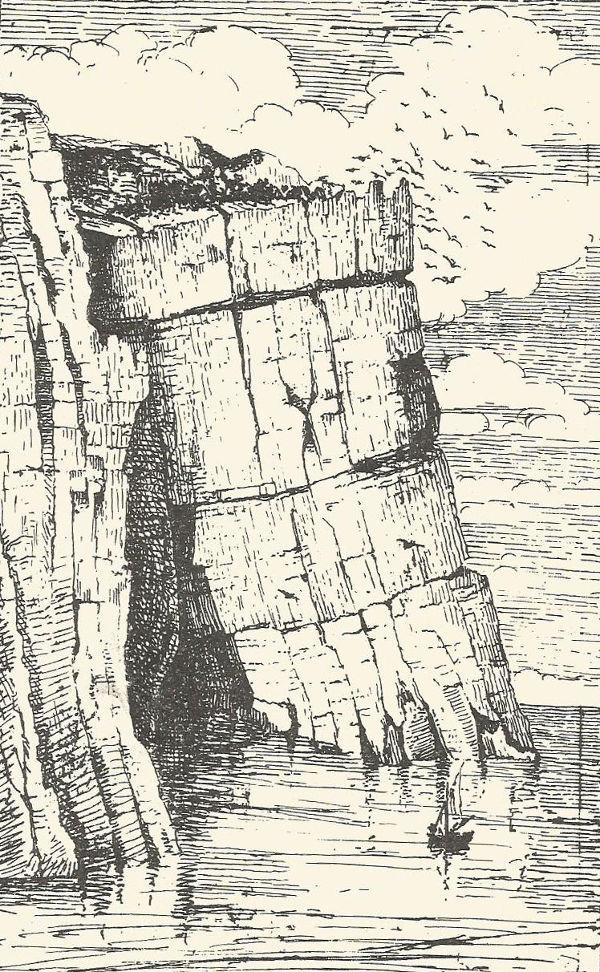 Grotta Palombara - Disegno di Cosimo De Giorgi