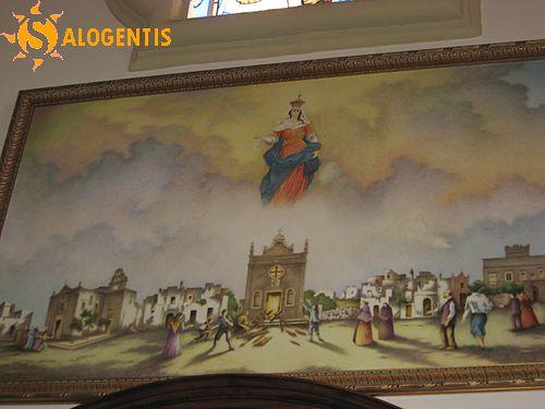 Il quadro che celebra il miracolo della riapertura posto nella chiesa