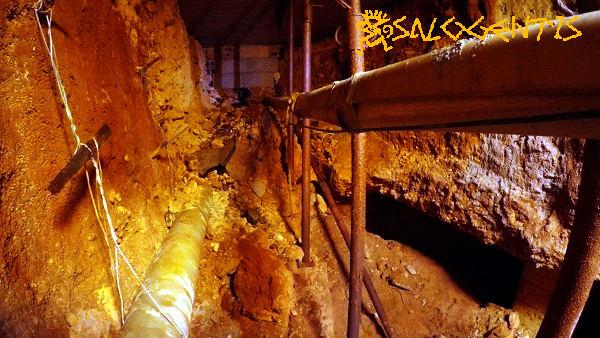 Interno dell'invaso della cripta di Santa Eufemia