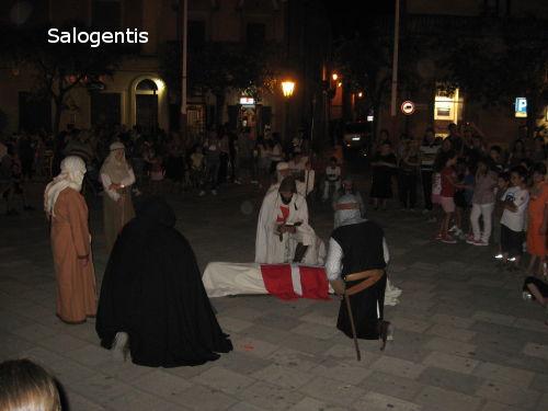 Cerimonia di sepoltura di un cavaliere Templare